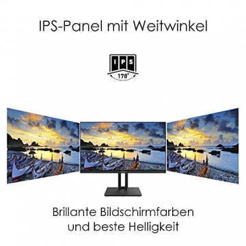 MSI PRO MP271QPDE 69cm (27 Zoll) IPS LED Monitor (16:9, WQHD (2560x1440), HDMI, DisplayPort, Verstellbar, Anti-Glare Display, Weniger Blaulicht, Rahmenlos) - 12