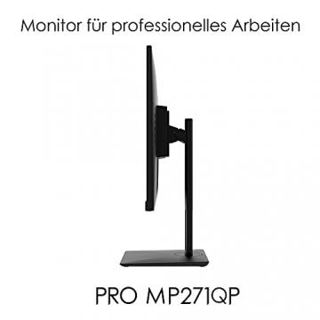 MSI PRO MP271QPDE 69cm (27 Zoll) IPS LED Monitor (16:9, WQHD (2560x1440), HDMI, DisplayPort, Verstellbar, Anti-Glare Display, Weniger Blaulicht, Rahmenlos) - 5