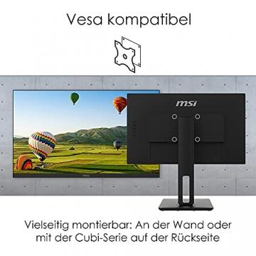 MSI PRO MP271QPDE 69cm (27 Zoll) IPS LED Monitor (16:9, WQHD (2560x1440), HDMI, DisplayPort, Verstellbar, Anti-Glare Display, Weniger Blaulicht, Rahmenlos) - 9
